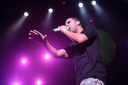 Hip hop artist Drake performing at the Fox Theater in St. Louis on October 12, 2010.