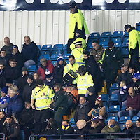 Kilmarnock v St Johnstone…23.12.16     Rugby Park    SPFL<br />A Kilmarnock fan is treated by paramedics after taking unwell<br />Picture by Graeme Hart.<br />Copyright Perthshire Picture Agency<br />Tel: 01738 623350  Mobile: 07990 594431