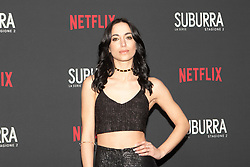 Cristina Pelliccia at the Red Carpet of the series Suburra 2 at Circolo Degli Illuminati in Rome, Italy, 20 February 2019 .Dress: Ginevra Odescalchi  (Credit Image: © Lucia Casone/Soevermedia via ZUMA Press)