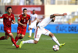 2019?1?12?.   ??????1???——D??????????.    1?12??????????·????????????? .    ??????????????2019???????D??????????????.    ????????..(SP)UAE-AL AIN-SOCCER-AFC ASIAN CUP 2019-GROUP D-VNM VS IRN..(190112) -- ABU DHABI, Jan. 12, 2019  Iran's Mehdi Taremi (R) vies for the ball during the 2019 AFC Asian Cup group D match between Vietnam and Iran at the Al Nahyan Stadium in Abu Dhabi, the United Arab Emirates, Jan. 12, 2019. (Credit Image: © Xinhua via ZUMA Wire)