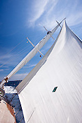 Kalikobass II sailing in the Loro Piana Superyacht Regatta.