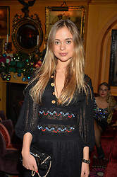 LADY AMELIA WINDSOR at a Thanksgiving dinner hosted by Alexander Gilkes of Paddle8 at Annabel's, 44 Berkeley Square, London on 23rd November 2016.