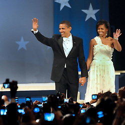 President Barack Obama and First Lady Michelle Obama at the Home State Ball on the night of the inauguration.