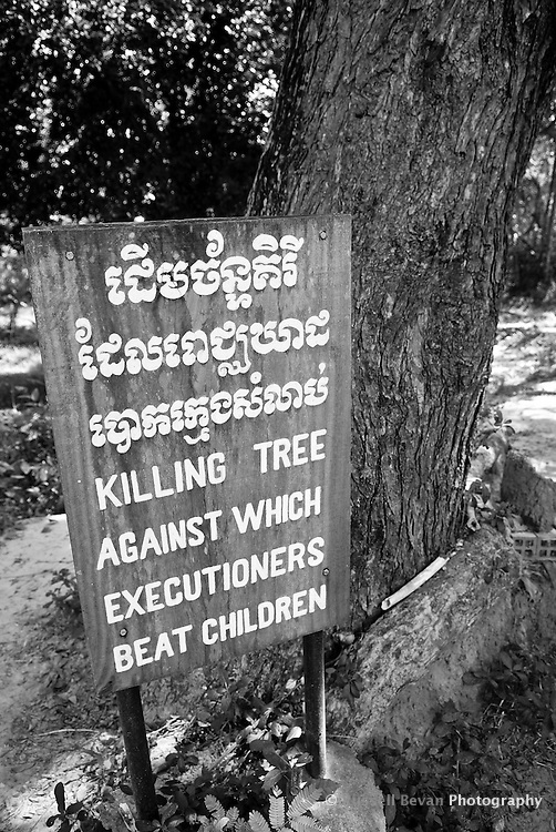 The Killing Tree at The Killing Fields Choeung Ek, 17 km South of Phnom Penh, Cambodia