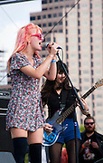 Bleached performing at Fun Fun Fun Fest, Austin, Texas, November 9, 2013.