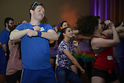 Andrew MCCollough busts out the dance moves during the Bobcat Dance-A-Thon held on Valentine's Day 2015. Photo by Olivia Wallace
