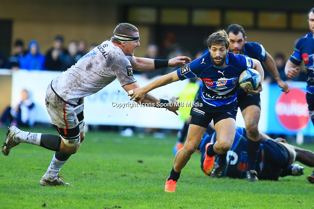 Teddy IRIBAREN - 20.12.2014 - Montpellier / Stade Toulousain - 13eme journee de Top 14 -<br /> Photo : Nicolas Guyonnet / Icon Sport