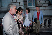 Pedro Almodovar; Luke Johnson. The UK film premiere and outdoor screening of 'Broken Embraces', at Somerset House on July 30, 2009. London.