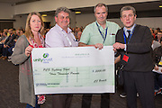 HMRC criminal justice branch presenting Mark Serwotka with a £3000 cheque towards the national fighting fund. The cheque was presented during the HMRC group conference.