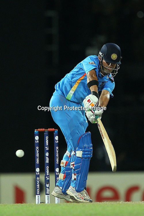 Gautam Gambhir during the ICC World Twenty20 Super 8s match between Australia and India held at the Premadasa Stadium in Colombo, Sri Lanka on the 28th September 2012<br /> <br /> Photo by Ron Gaunt/SPORTZPICS