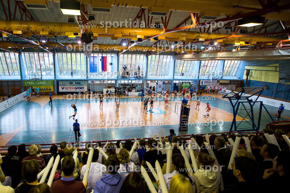 View on the court during volleyball match game between Calcit Kamnik and NKBM Branik in 3rd leg of Finals of Slovenian National Championship 2014, on April 5, 2014 in Sportna dvorana, Kamnik, Slovenia. Photo by Matic Klansek Velej / Sportida