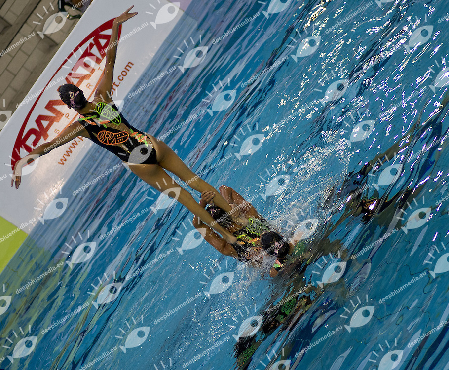 Busto Arsizio (VA) - Italy.CoMeN - Mediterranean Synchronised Swimming cup 2011.The international competition is reserved to athletes 14 years old or younger. 25 nations are taking part to the 2011 edition..Day 03 - Team Final.Silver Medal.GREECE (GRE).Photo G.Scala/Deepbluemedia.eu