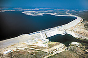 Built mainly for flood control, the Amistad Dam is the largest damn on this section of the Rio Grande River.  The U.S. and Mexico each manage their own hydroelectric generating facilities at the Amistad.  The U.S. facility generates 161,000 megawatt hours a year, providing power for approximately 15,000 homes.