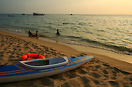 On the west side of Phu Quoc lies the main beach called Truong Beach.  It is here that most of the hotels are located.  The beach is more than 5 miles long and you will find some sections totally deserted.