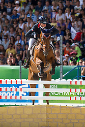 Maxime Livio, (FRA), Qalao Des Mers - Jumping Eventing - Alltech FEI World Equestrian Games™ 2014 - Normandy, France.<br /> © Hippo Foto Team - Leanjo De Koster<br /> 31-08-14