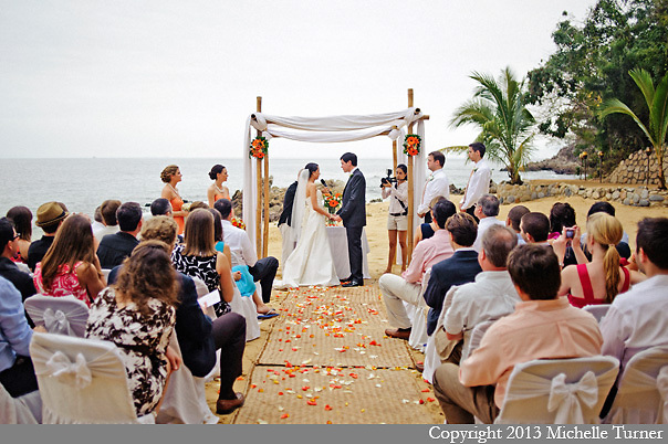 Las Caletas Wedding Photography.  Images by Puerto Vallarta Wedding Photographer Michelle Turner.