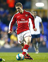 Jack Wilshere  of Aresnal Tottenham Hotspur Youth Vs  Arsenal Youth at White Hart Lane London F.A. Youth Cup Sixth Round<br /> 05/03/2009. Credit Colorsport  / Kieran Galvin