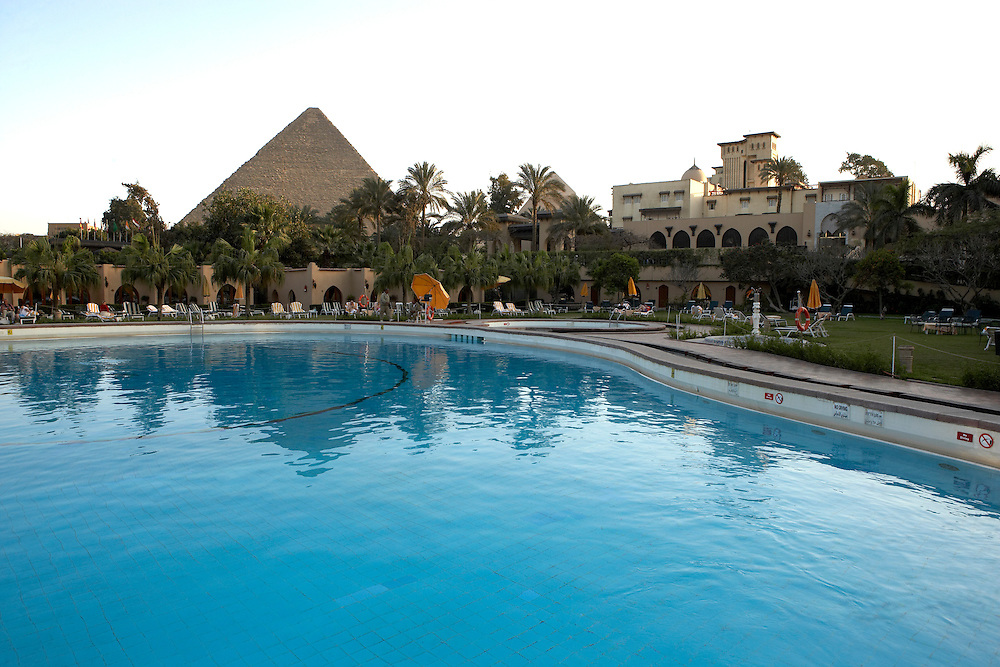 Mena House at the Giza Pyramids.Giza, Egypt