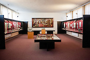 Exhibition hall of the Bible museum in the village of Kralice nad Oslavou close to Brno. The bible of Kralice was the first complete translation of the Bible from the original languages into the Czech language. Translated by the Unity of the Brethren and printed in the town of Kralice nad Oslavou, the first edition had six volumes and was published between the years 1579 and 1593.