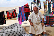 Israel, Negev Desert, Mamshit the Nabataean city of Memphis, re-enactment on the life in the Nabatean period re-enactment of the marketplace with stalls selling products similar to those used in the Nabataean era