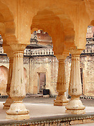 Pavilion in a courtyard of t.he Amber Palace, Amer, Rajasthan