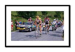 Laurent Fignon,<br /> Tour de France 1987<br /> <br /> Heading for victory ahead of Anselmo Fuerte at La Plagne.