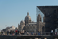 France.  Marseille; The Mucem, Museum, the Museum of the Civilisations of Europe and the Mediterranean / Musee des civilisations de l'Europe et de la Méditerranee