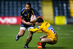Ed Fidow of Worcester Cavaliers takes on Owain James of Wasps A - Mandatory by-line: Robbie Stephenson/JMP - 16/12/2019 - RUGBY - Sixways Stadium - Worcester, England - Worcester Cavaliers v Wasps A - Premiership Rugby Shield