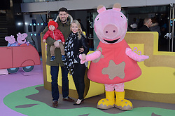 Alex Goward, Rocco and Laura Hamilton attend The Premiere of Peppa Pig: The Golden Boots at The Odeon, Leicester Square, London on Sunday 1 February 2015