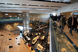 Interior of the new V&A Museum on first weekend after opening in Dundee , Scotland, UK.