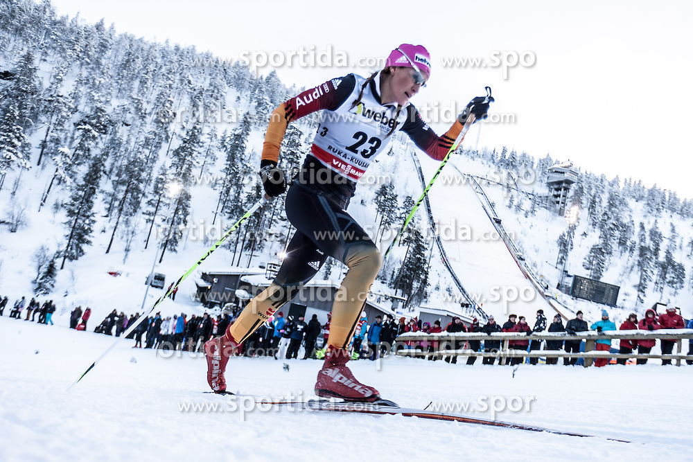 29.11.2013, Nordic Arena, Kuka, FIN, FIS Ski Nordisch Weltcup, Langlauf Frauen, im Bild Nicole Fessel (GER) // Nicole Fessel (GER) during the Ladies FIS Cross Country World Cup of the Nordic Opening at the <br /> Nordic Arena in Kuka, Finland on 2013/11/29. EXPA Pictures &copy; 2013, PhotoCredit: EXPA/ JFK