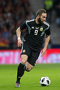Gonzalo Higuain of Argentina during the International friendly game football match between Spain and Argentina on march 27, 2018 at Wanda Metropolitano Stadium in Madrid, Spain - Photo Rudy / Spain ProSportsImages / DPPI / ProSportsImages / DPPI