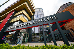 View of the University of Strathclyde Business School in Glasgow, Scotland, UK