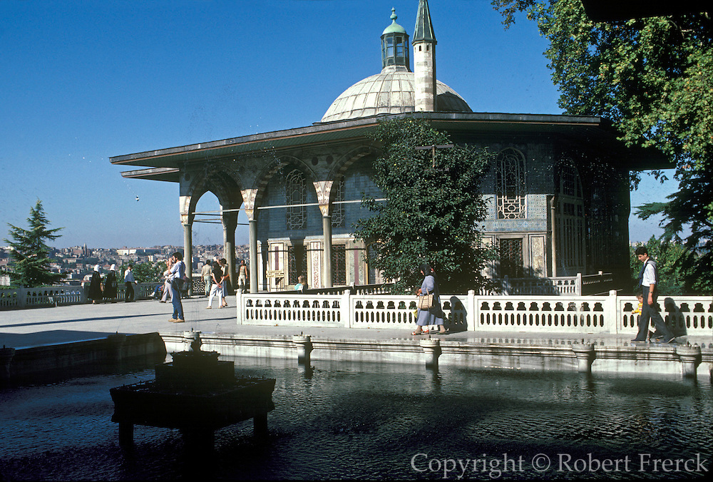 TURKEY, ISTANBUL Topkapi Palace built in 1462 AD by Mohammed II; the Baghdad Kiosk built to commemorate the reconquest of city in 1638