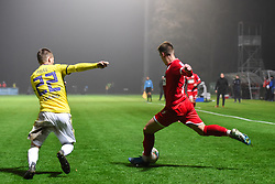 Tilen Pecnik of Aluminij during football match between NK Aluminij and NK Maribor in 18th Round of Prva liga Telekom Slovenije 2019/20, on November 24, 2019 in Sportni park Aluminij, Kidricevo Slovenia. Photo by Milos Vujinovic / Sportida