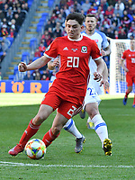 Football - 2018 / 2019 Euro Championship 2020 qualifying round. Wales v SLOVAKIA <br /> <br /> Daniel James of Wales on the attack<br /> at Cardiff City Stadium<br /> <br /> COLORSPORT/WINSTON BYNORTH