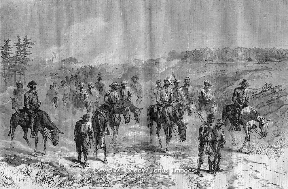 Civil War: GENERAL GRANT'S CAMPAIGN RETURN OF KAUTZ'S CAVALRY EXPEDITION FROM ITS RAID IN VIRGINIA. SKETCHED BY WILLIAM WAUD.