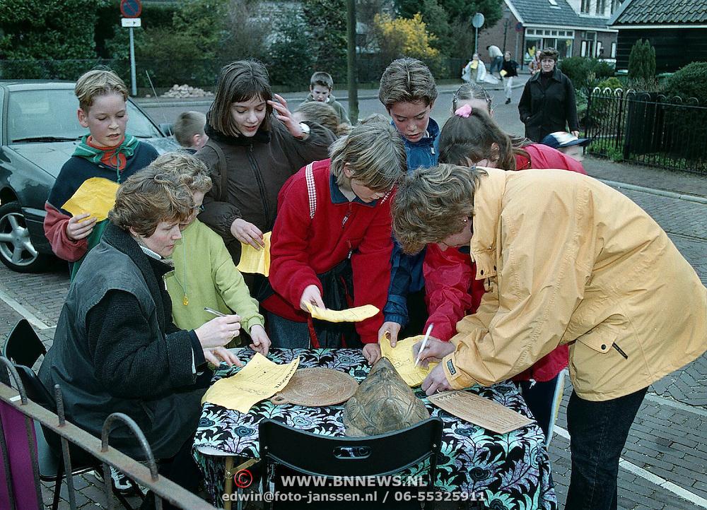 Sponsorloop Eben - Haezerschool, stempelpost Hellingstraat Huizen