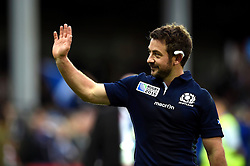Greig Laidlaw of Scotland waves to the crowd after the match - Mandatory byline: Patrick Khachfe/JMP - 07966 386802 - 23/09/2015 - RUGBY UNION - Kingsholm Stadium - Gloucester, England - Scotland v Japan - Rugby World Cup 2015 Pool B.
