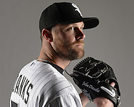 GLENDALE, ARIZONA - FEBRUARY 27:  John Danks  of the Chicago White Sox poses for a portrait during White Sox photo day on February 27, 2015 at Camelback Ranch in Glendale Arizona.  (Photo by Ron Vesely)