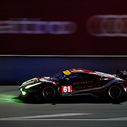 LMGTE Am-AF CORSE, Ferrari F458 Italia, Drivers, Jack Gerber (ZAF), Matt Griffin (IRL), Marco Cioci (ITA).<br /> Image taken during free practice and qualifying at the 90th Le Mans 24hrs at the Circuit de la Sarthe, Le Mans, France on the 20th June 2013.<br /> <br /> WAYNE NEAL | SPORTPIX.ORG.UK