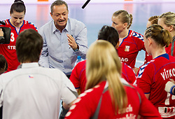 Jan Basny, head coach of CZE during handball match between Women National Teams of Slovenia and Czech Republic of 4th Round of EURO 2012 Qualifications, on March 25, 2012, in Arena Stozice, Ljubljana, Slovenia. (Photo by Vid Ponikvar / Sportida.com)