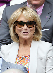 Felicity Kendal in the  Royal Box on Centre Court on the opening day of Wimbledon 2013<br /> London, Monday, 24th June 2013<br /> Picture by Stephen Lock / i-Images