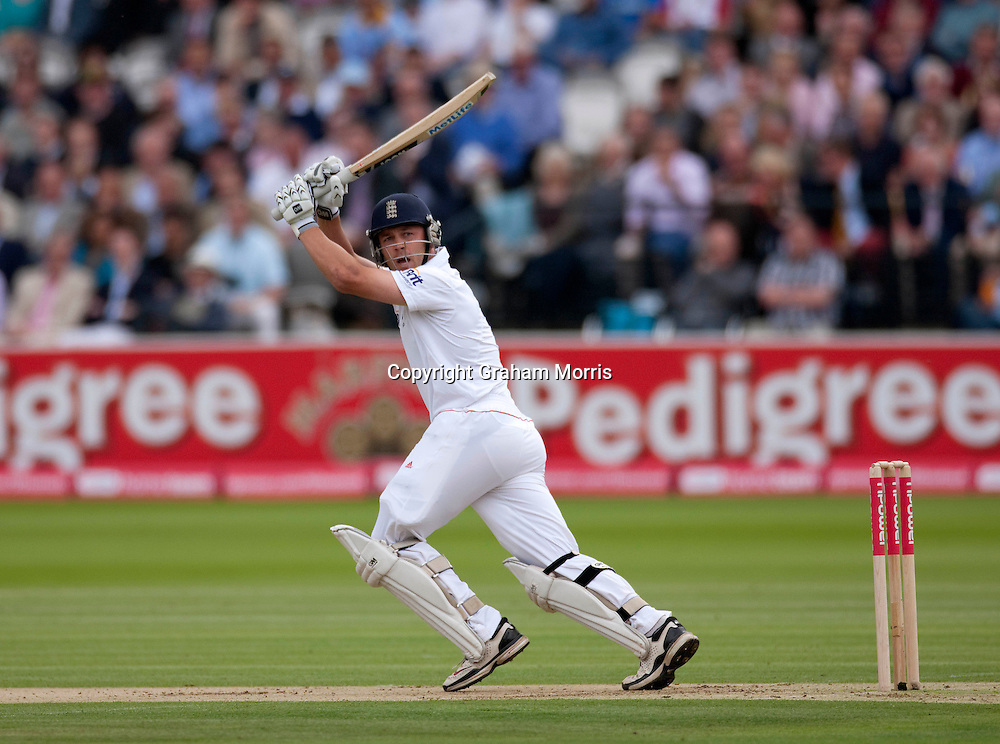 Jonathan Trott bats during the first npower Test Match between England and India at Lord's Cricket Ground, London.  Photo: Graham Morris (Tel: +44(0)20 8969 4192 Email: sales@cricketpix.com) 21/07/11