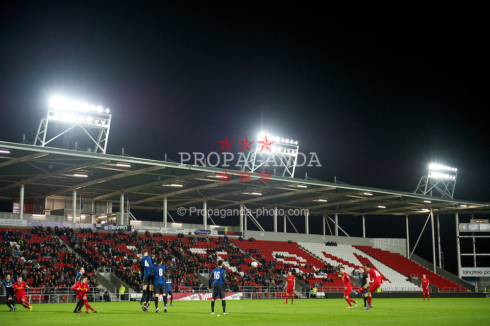 ST HELENS, ENGLAND - Tuesday, January 8, 2013: A general view of the action during the NextGen Series Group 5 match at Langtree Park. (Pic by Chris Brunskill/Propaganda)