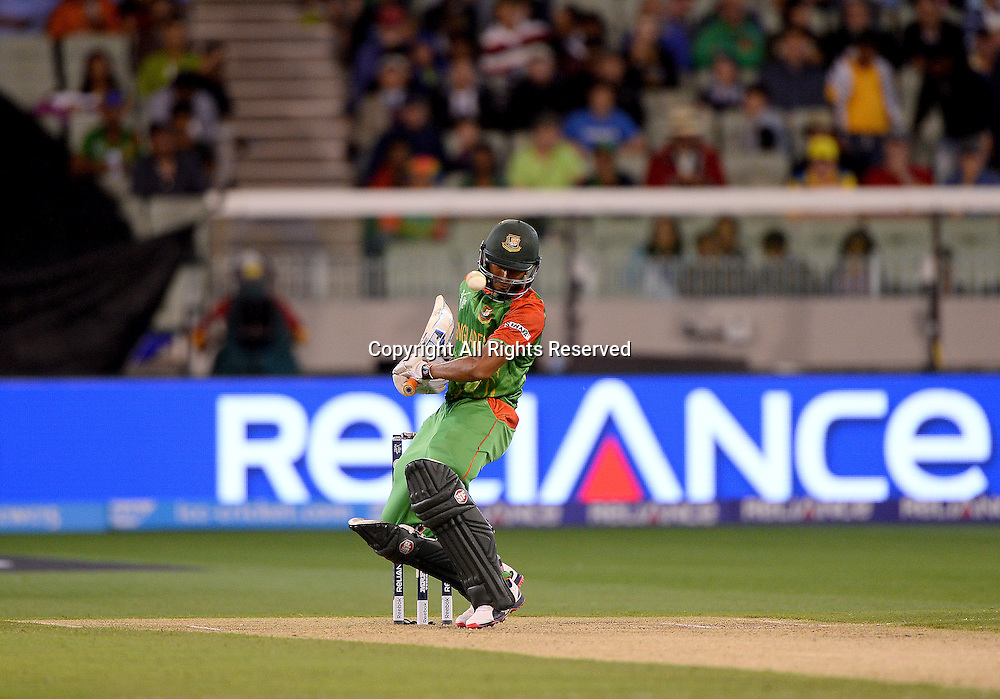 MD Mahmud Ullah (Bang) <br /> India vs Bangladesh / Qtr Final 2<br /> 2015 ICC Cricket World Cup<br /> MCG / Melbourne Cricket Ground <br /> Melbourne Victoria Australia<br /> Thursday 19 March 2015<br /> &copy; Sport the library / Jeff Crow