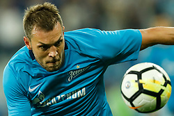 August 24, 2017 - Saint Petersburg, Russia - Artem Dzyuba of FC Zenit Saint Petersburg in action during the UEFA Europa League play-off round second leg match between FC Zenit St. Petersburg and FC Utrecht at Saint Petersburg Stadium on August 24, 2017 in Saint Petersburg, Russia. (Credit Image: © Mike Kireev/NurPhoto via ZUMA Press)