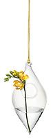 cb2 hanging tear drop diamond vase