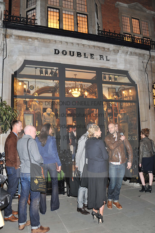 Atmosphere at a reception hosted by Ralph Lauren Double RL and Dexter Fletcher before a private screening of Wild Bill benefitting FilmAid held at RRL 16 Mount Street, London on 26th March 2012.