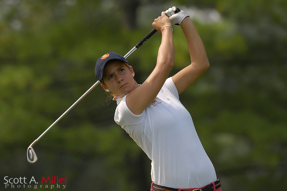 Azahara Munoz during the first round of stroke play at the U.S. Women's Amateur at Crooked Stick Golf Club on Aug. 6, 2007 in Carmel, Ind.    ...©2007 Scott A. Miller